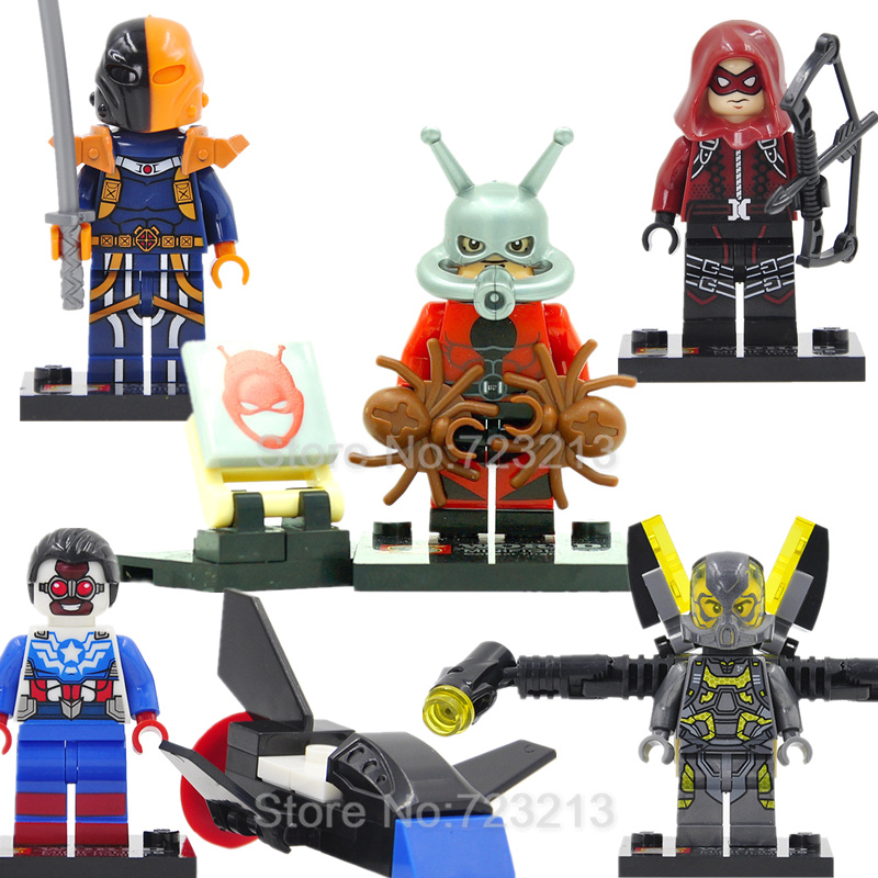 Marvel Ant-Man Single Sale Figure Deathstroke The Falcon Batman Building Blocks Avengers Sets Models Bricks Toys the falcon marvel super hero sam wilson figure the avengers captain america building blocks sets model bricks toys for children