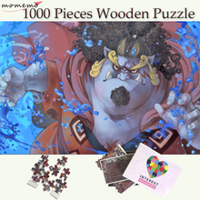 MOMEMO Jinbei Anime Wooden Jigsaw Puzzles 1000 Pieces for Adults ONE PIECE Cartoon Puzzles for Men Women Teenagers Puzzle Toys puzzle therapist one a day sudoku for the utterly obsessed large print puzzles for adults