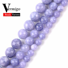 6 8 10 12mm Angelite Stone Beads Natural Round Loose For Needlework Jewelry Making Diy Bracelet Necklace 15Strand