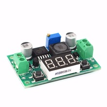 10pcs TENSTAR ROBOT LM2596 module DC 4.0~40 to 1.3-37V Adjustable Step-Down Power Module + LED Voltmeter(China)