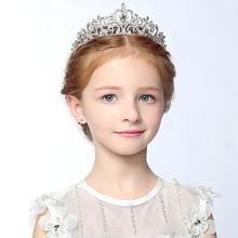 Хрустальные стразы menina de Flor da princesa coroa Tiara Prom acessorios de cabelo