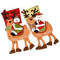 Christmas Decoration Stocking Large Long Leg Christmas Socks Xmas Party Gift Bags 2017 New Year Christmas