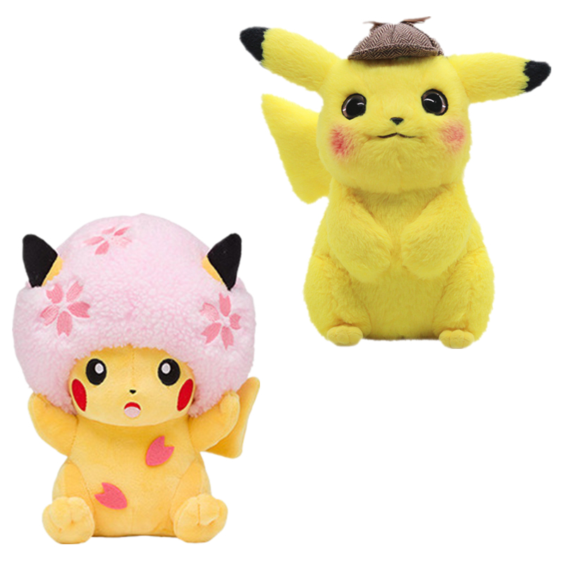 Pokemon Plush Doll Cherry Blossom Sakura Cap Pikachu Plush Figure
