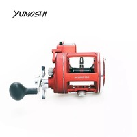 YUMOSHI Left / Right Hand 12BB Fishing Reel With Electric Depth Counting Multiplier Body Cast Drum Reel Pesca Molinete Peche