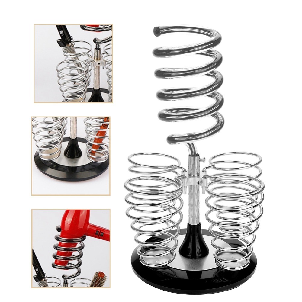 Salon Home Hair Dryer Shelf Storage Holder Comb Rack Stainless Steel Base Colorful Desktop Stable Acrylic