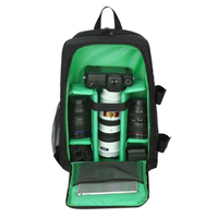 Waterproof Digital DSLR Photo Padded Backpack with Rain Cover Bag Case for iPad Canon Sony Fuji Nikon Olympus Panasonic(Green)