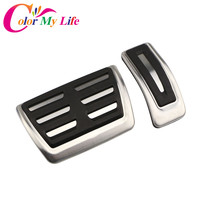 Color My Life AT Car Gas Fuel Brake Pedals Car Pedal Cover For Audi A4 A4L