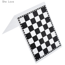 She Love Checkerboard Plastic Template Embossing Folder For