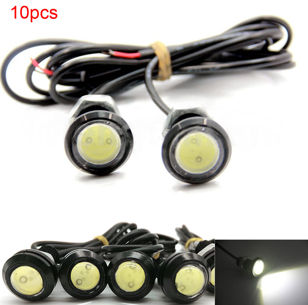 10Pcs Cars Led Spotlights 12V 9W Super Bright Waterproof  LED Car DRL Lamp Daytime Backup Reverse Light White Light