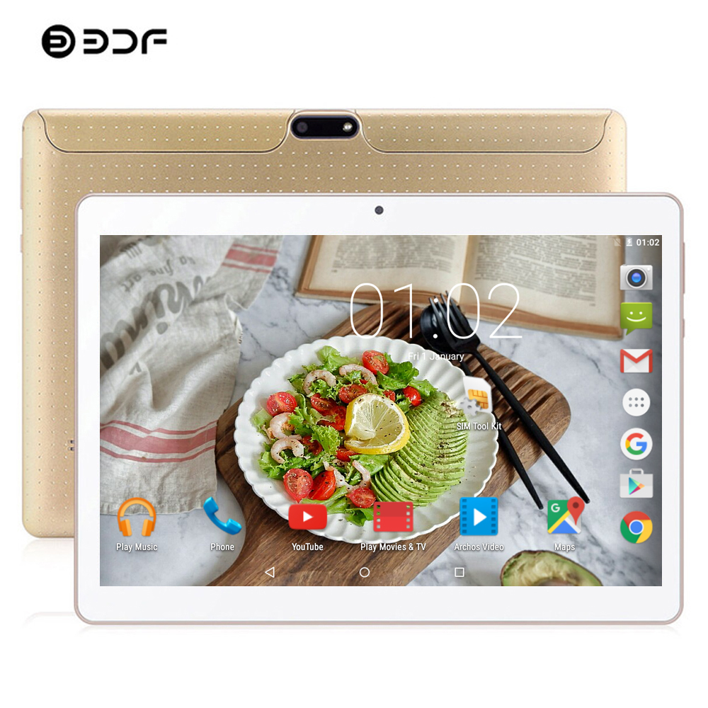 BDF New 10 Inch Original Design 3G Phone Call Android 7.0 Octa Core 4GB+64GB Android Tablet Pc WiFi Bluetooth IPS Tablets 10.1