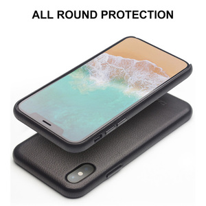 Image 4 - QIALINO Genuine Leather Phone Case for iPhone XS Handmade Luxury Fashion Ultra Thin Back Sleeve Cover for iPhoneXS for 5.8 inch