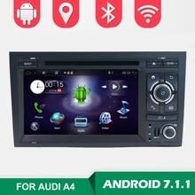 2 Din 7 »Android 7,1 4 ядра автомобильное радио DVD плеер для Audi A4 B6 B7 S4 B7 B6 RS4 2002-2008 RS4 B7 SEAT EXEO 2008-2012 WI-FI BT