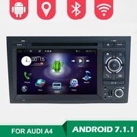 2 Din 7'' Android 7.1 Quad Core Radio Car DVD Player for Audi A4 B6 B7 S4 B7 B6 RS4 2002 2008 RS4 B7 SEAT Exeo 2008 2012 WIFI BT