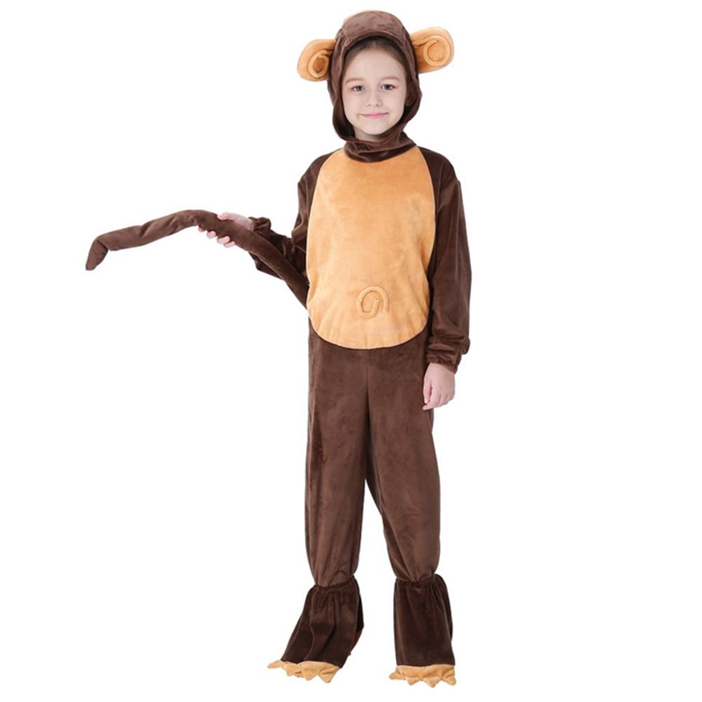 FINDPITAYA Christmas Halloween costume children cute animal monkey costume home clothes animal pajamas cosplay costume Vestidos