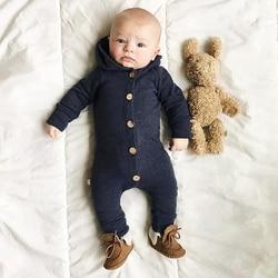 Комбинезон с капюшоном для маленьких мальчиков, одежда для малышей