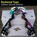 Рокерский Тип 219 мм 231 мм 243 мм Встроенные коньки рама для 72 мм 76 мм 80 мм банан слалом FSK роликовые коньки база Красочная радуга