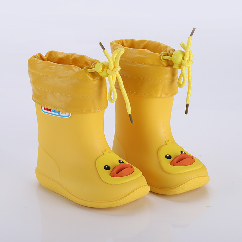 Rain Boots Kids For Girls Waterproof Water Shoes Baby Boys Non-slip Rubber Boots Warm Children Rainboots Four Seasons Removable