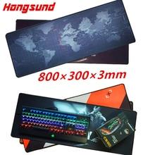 Hongsund mouse pad Large Gaming Mouse Pad 800*300*3mm Locking Edge Mouse Mat For Dota2 Diablo 3 CS gaming mouse pad in stock