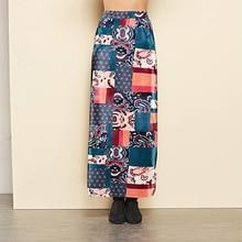 Otoño Invierno de las mujeres Floral de la impresión de alta cintura Falda  de lápiz largo elástico tubo Streetwear Maxi Falda Mu. 47b77a7b49f5