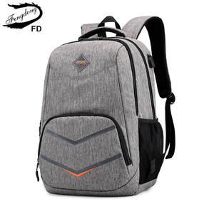 Fengdong High-School-Bags Backpack Laptop-Bag Teenage-Boys Kids Usb-Charge for Travel