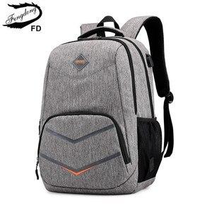 Image 1 - Fengdong حقيبة مدرسية عالية s teenage حقيبة السفر الصبي حقيبة لابتوب 15.6 أطفال حقيبة مدرسية الصبي المدرسية على ظهره usb تهمة