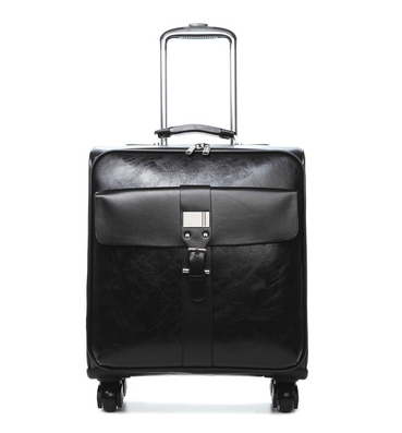 Commercial trolley luggage male universal wheels 16 vintage luggage bag female pu leather the box