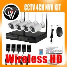 4CH Wireless NVR Kit P2P 960P HD Outdoor IR Nachtsicht Sicherheit 1.3MP IP Kamera WIFI CCTV System