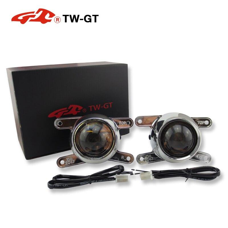 TW GT 2,5 дюймов скрытый набор би ксенон противотуманные лампы проектора объектив foglight H11 для Mitsubish asx attrage outlander space звезды Мираж