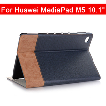 Case For Huawei MediaPad M5 lite BAH2-AL10 10.1'' Wake Sleep Case Cover Wallet Flip Leather Stand Funda Cards can be inserted slim business retro flip stand cover case for huawei mediapad m5 lite 10 case bah2 w09 bah2 l09 bah2 w19 10 1 tablet shell