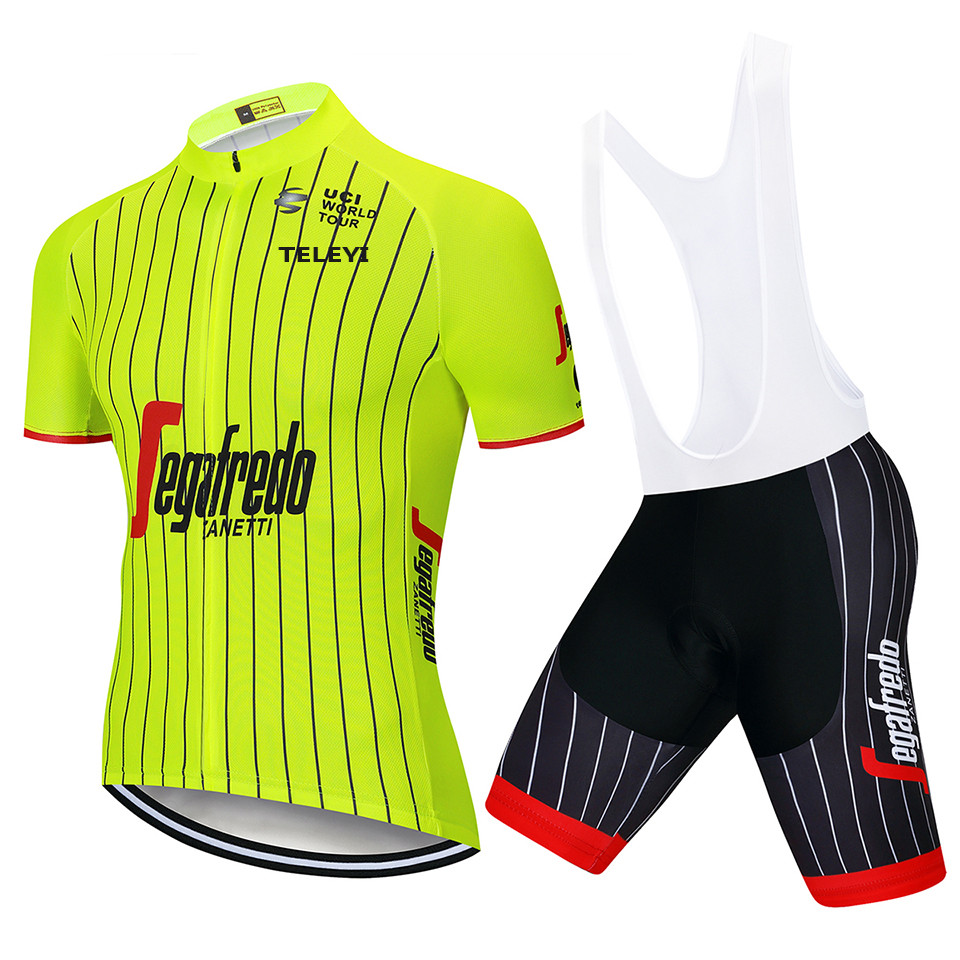 New Trekking Short Sleeve Cycling Jersey Bib Set Mountain Bike Clothing MTB Bicycle Clothes Maillot Ropa