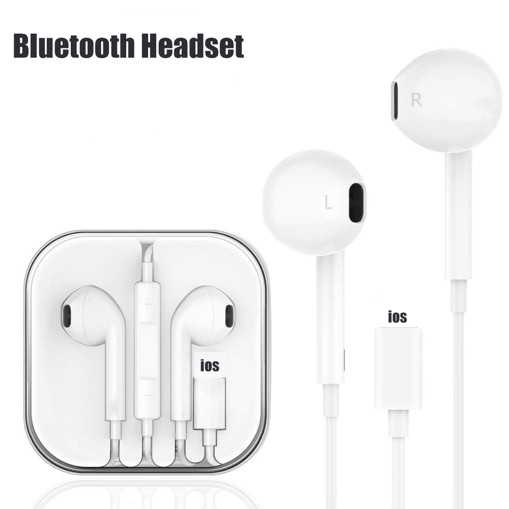 In Ear Stereo Bluetooth Wired Earphone For Iphone 8 8 Plus With Microphone Earbuds For Iphone 7 Plus X Xr Xs Max Earphones Buy At The Price Of 4 10 In Aliexpress Com Imall Com