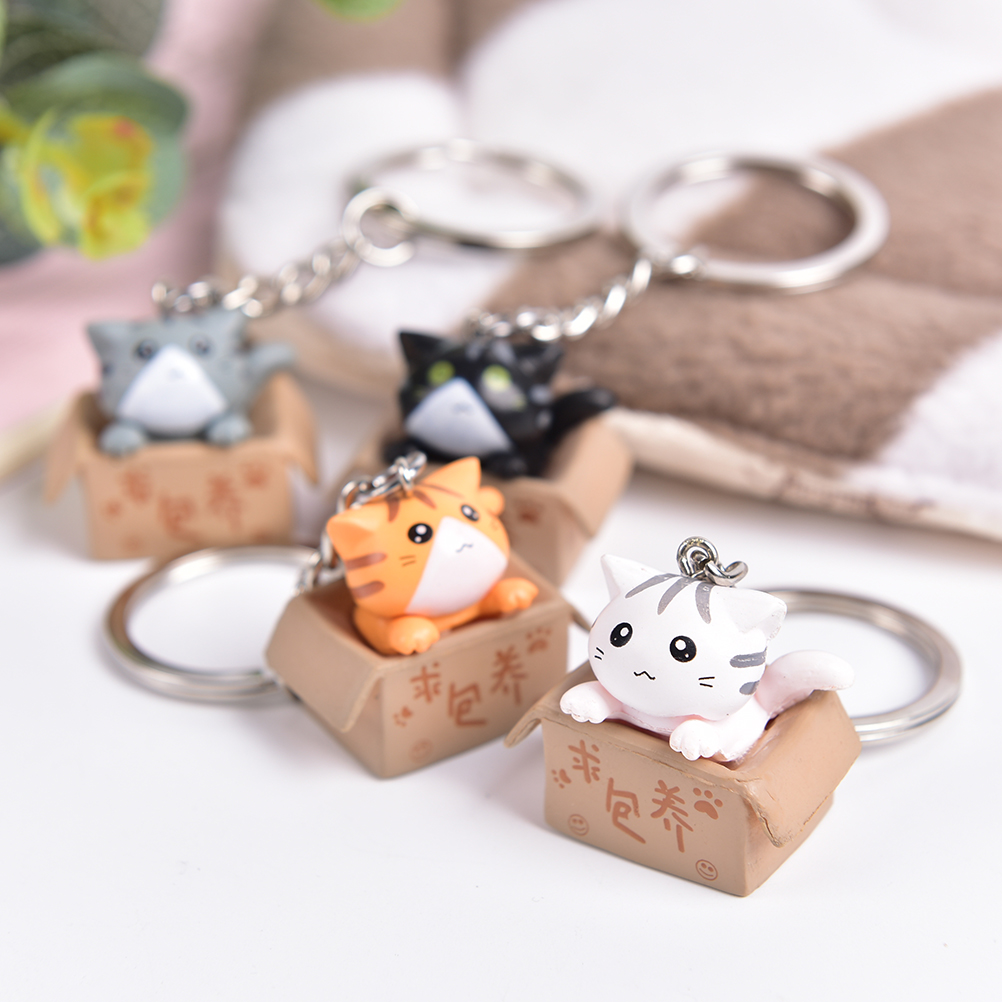 4Colors Cute Lovely Cartoon Cat Pendant Ornament For Bag Gift Bag Parts Accessories 1PCS