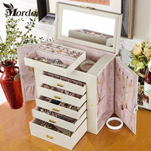 2017 Mordoa New Rings Earrings Showcase Container Colorful Cover High-end Jewelry Silver Pendant Earrings Collecting Storage Box