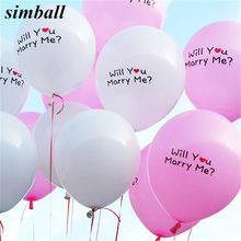 10 pçs/lote 12 Polegada Você Vai Se Casar Comigo Balões De Látex Propor Casamento Globos de Ar Inflável Balão Balões De Casamento Fontes Do Partido