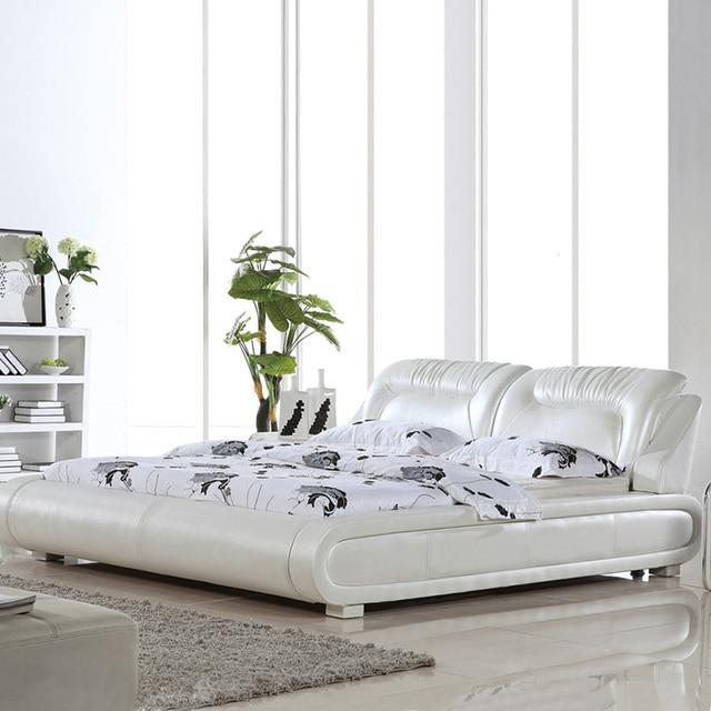 Mobilier de chambre lit en cuir, doux lit, 1.8 lit king size, usine ...