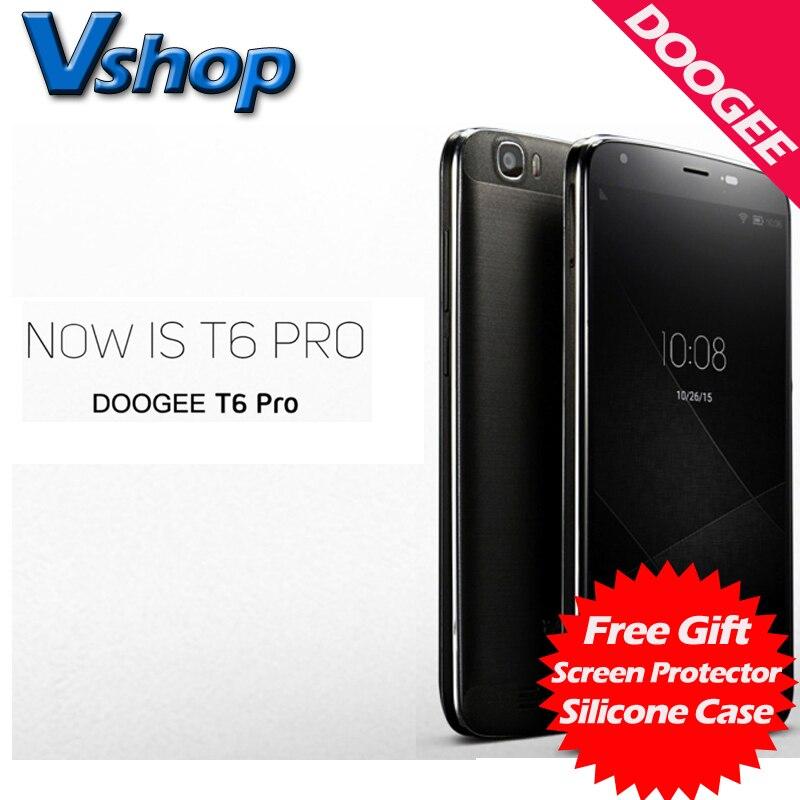 Цена за DOOGEE T6 PRO 4G Мобильного телефоны Android 6.0 32 ГБ ROM 3 ГБ ROM MTK6753 Окта основные 720 P 13.0MP Камера Dual SIM 5.5 дюймов Сотовый Телефон смартфон