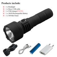 18650 Pin USB Sạc Đấu Sĩ Flash ánh sáng Mạnh Mẽ Torch CREE XM-L L2 LED Đèn Pin, Thích Hợp cho Cắm Trại Lanterna