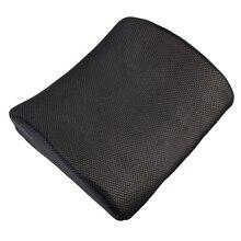 Memory Foam Lumbar Back Support Almohada Cojín para el Hogar de Coches Auto Asiento Negro V3NF