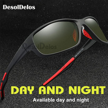 2019 Mens Yellow Polarized Driving Sunglasses at Night High Quality Vision Day Glasses For Women Safety Eyewear