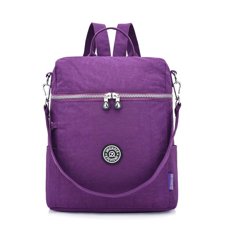 Travel Backpack Jinqiaoer Shoulder-Bag Large-Capacity Waterproof Nylon Student Women's