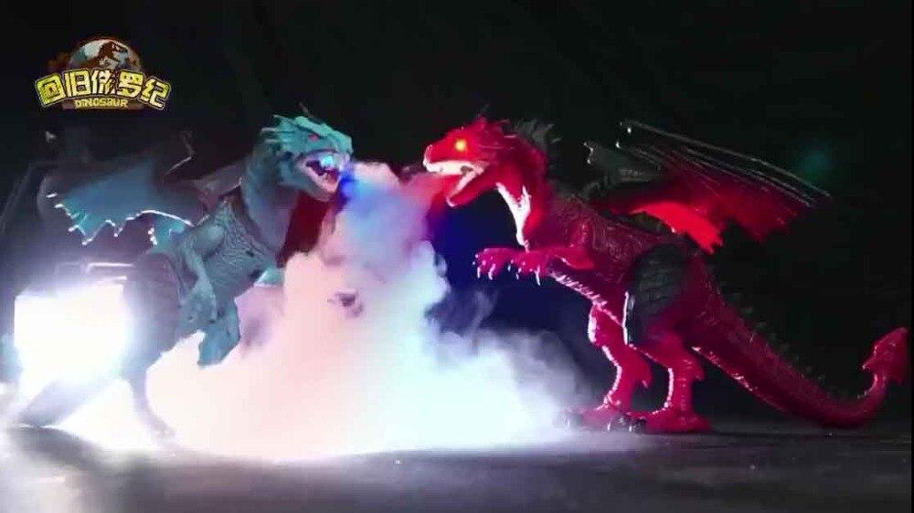 Infrarouge RC dinosaure Spray Dragon secouant la tête éclairer les yeux et les sons RC jouets Simulation électrique jouets garçons cadeau de noël