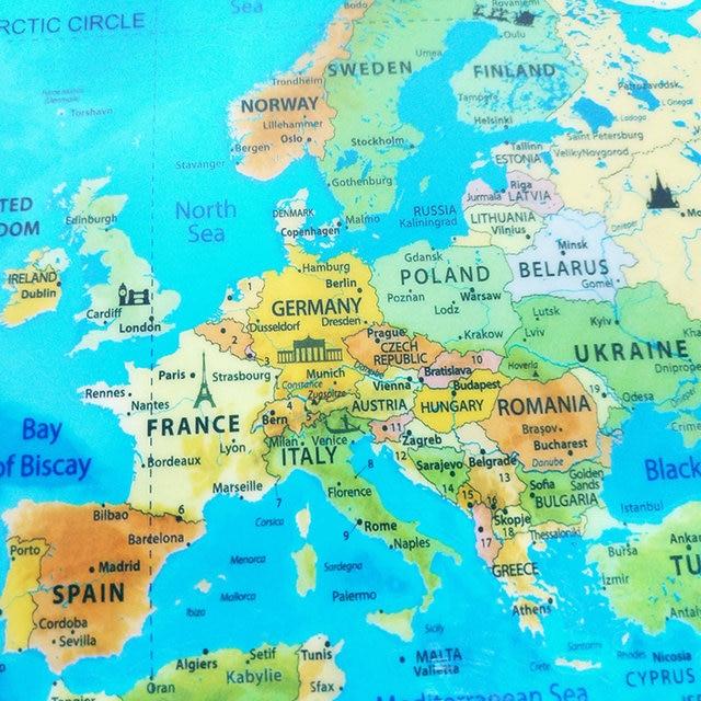 Online shop world map scratch off map ocean personalized deluxe world map scratch off map ocean personalized deluxe travel edition scratch off stickers world map poster wall decor 815x575cm gumiabroncs Gallery