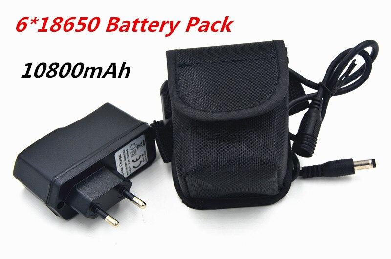 Bike Light 10800mAh 18650 Battery Pack 8.4V for SolarStorm X2 X3 T6 Lamps + 8.4V Battery Charger