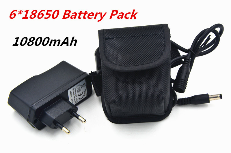 Bike Light 10800mAh 18650 Battery Pack 8.4V for SolarStorm X2 X3 T6 Lamps + 8.4V Battery Charger