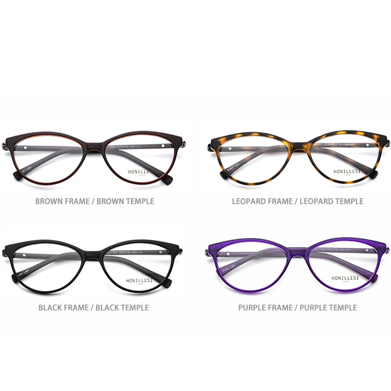 db5b0ef14abb8 TR90 Optical Glasses Frame for Women Prescription Eyeglasses 2018 Myopia  Woman Cat Eye Transparent Purple Female Light Eyewear-in Eyewear Frames  from ...