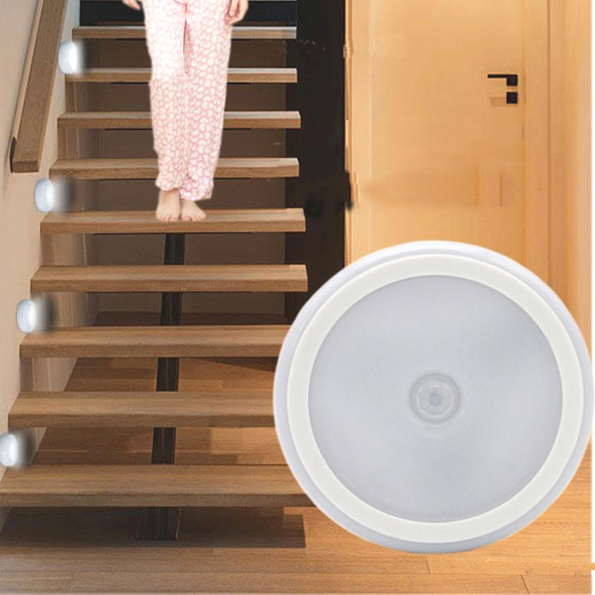 Home LED light LED 6 LED Wireless PIR Auto Motion Sensor Infrared Light Cabinet Stair Lamp may11