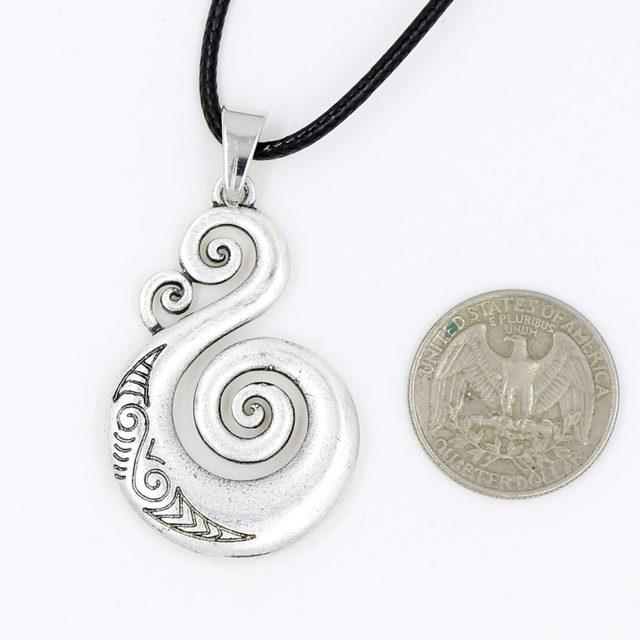 Online Shop Pikorua Necklace Pendant Maori Twist Symbol Mask Manaia