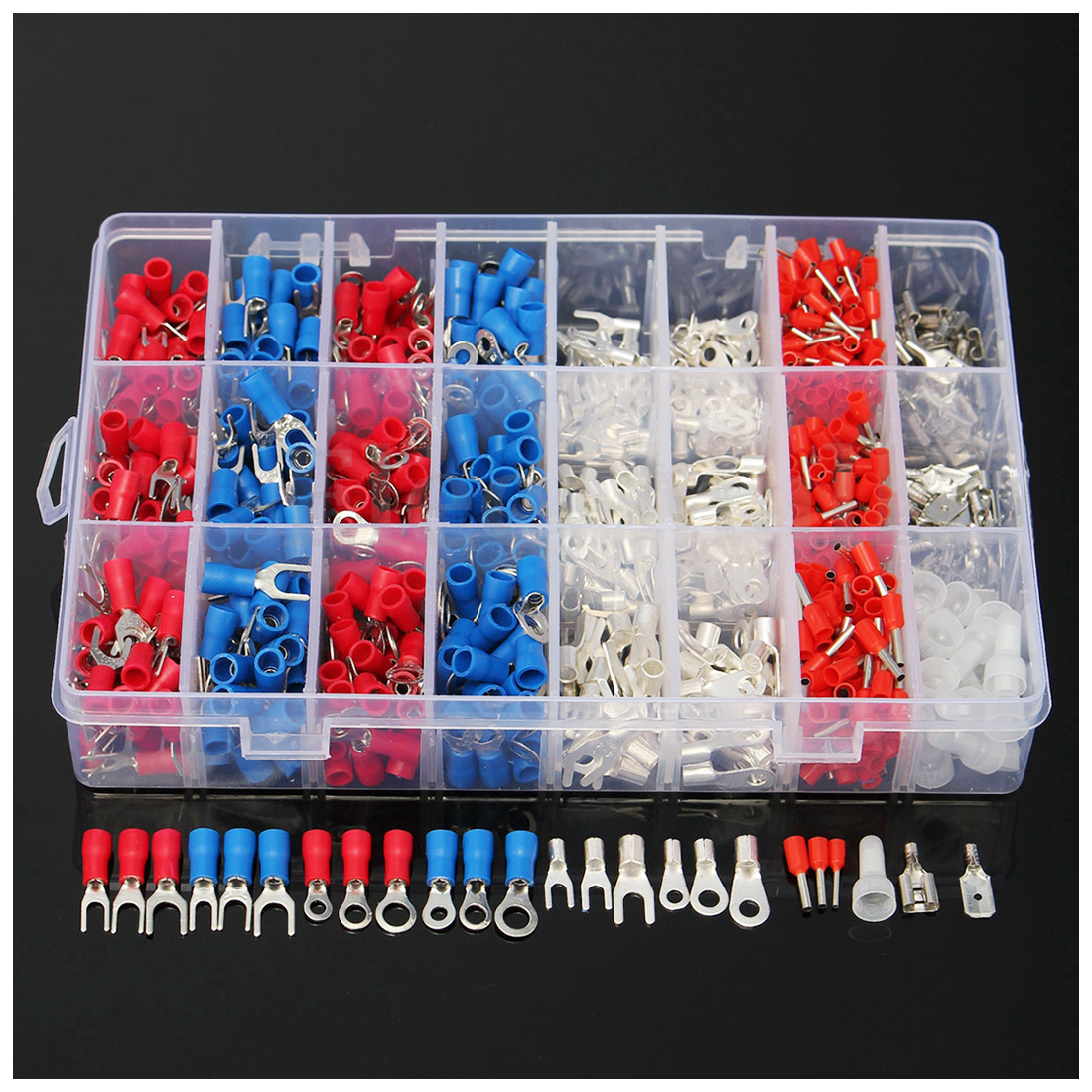 1000Pcs Female & Male Spade Insulated Connectors Crimp Electrical Wire Terminal 1000pcs dupont jumper wire cable housing female pin contor terminal 2 54mm new