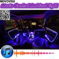 NOVOVISU Ambient Rhythm Light For All Car Tuning Interior Music / Sound Light / DIY Car Atmosphere Refit Optic Fiber Band