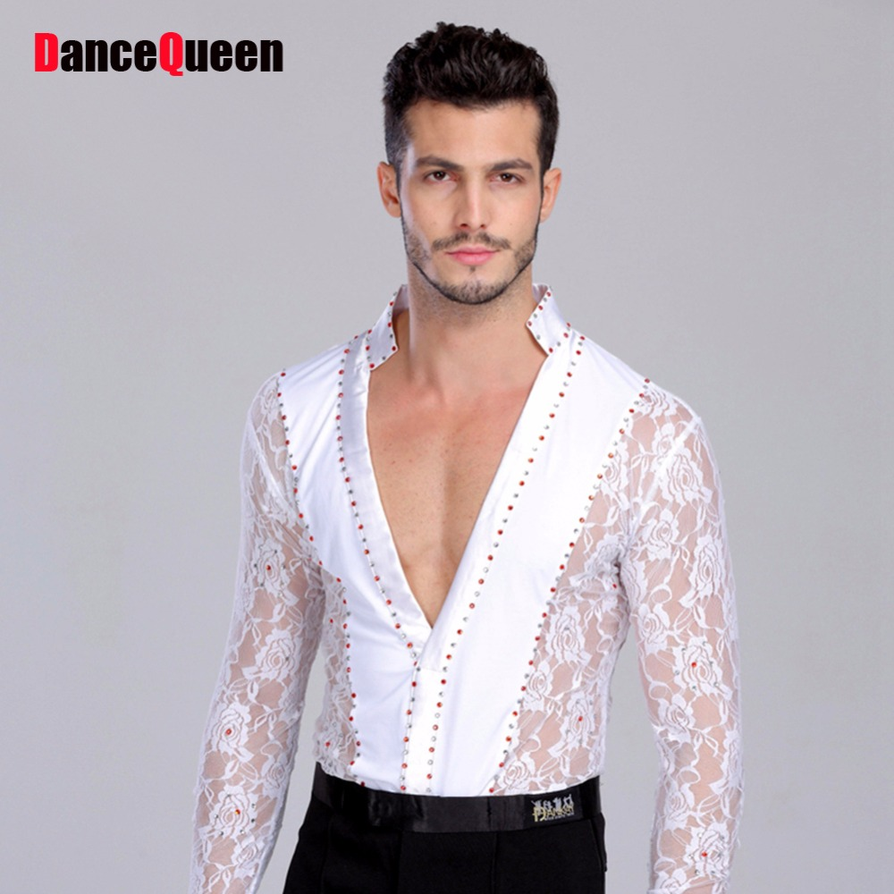 Men/Boy Performance Latin Dress Tops Diamond Lace Long Sleeve Dance Dress Ballroom Dance Competition Dresses Latin Tops Shirt виниловые обои limonta sonetto 73321 page 8